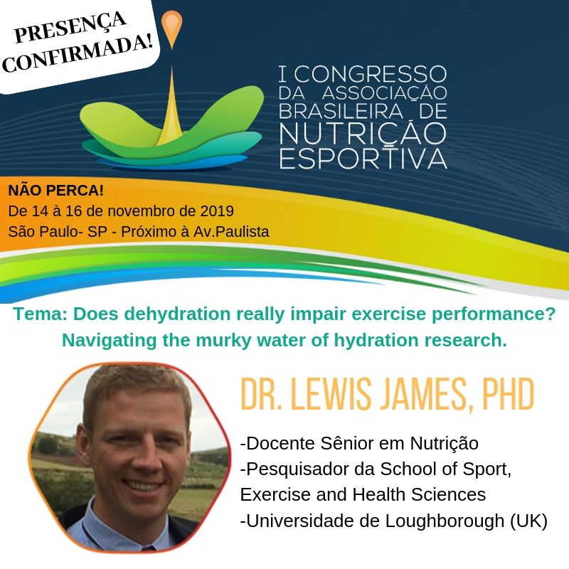 Palestrante confirmado - Dr. Lewis James, PhD